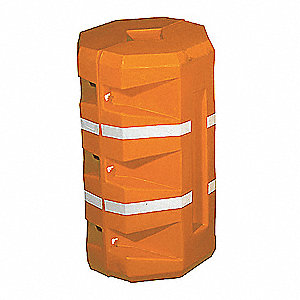 "Orange Column Protector, Fits Column Size 9"", Fits Column Shape Round"