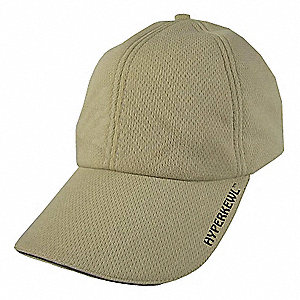 Cooling Hat, Cotton Outer with HyperKewl Fabric Inner, Nylon Liner, Khaki, Universal