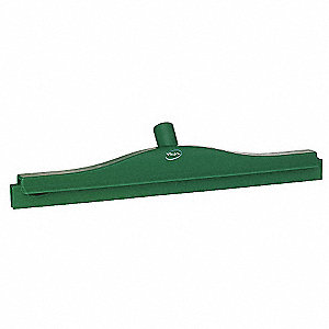 "20""W Straight Double Rubber Floor Squeegee Without Handle, Green"