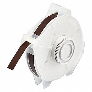 "Outdoor Polyester Label Tape Cartridge, Brown, 1/2""W x 100 ft."
