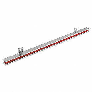 "Nickel/Red Magnetic Tool Holder, Steel, 24"" Length, 1"" Width"