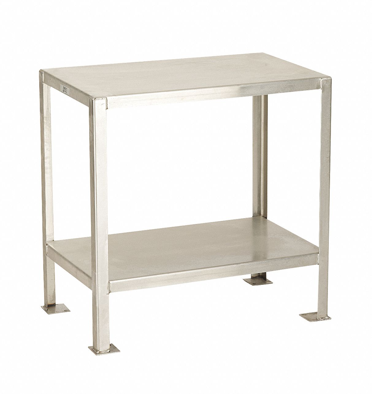 Fixed Height Work Table, Stainless Steel, 18 in Depth, 30 in Height, 30 in Width,1,200 lb Load Capac