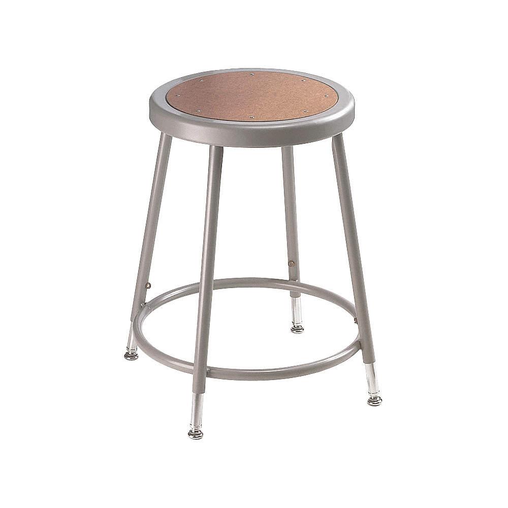 Pleasant Round Stool With 19 To 27 Seat Height Range And 300 Lb Weight Capacity Gray Inzonedesignstudio Interior Chair Design Inzonedesignstudiocom