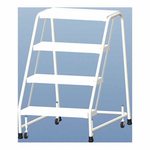 Ballymore 4 Step Rolling Ladder Ribbed Step Tread 38