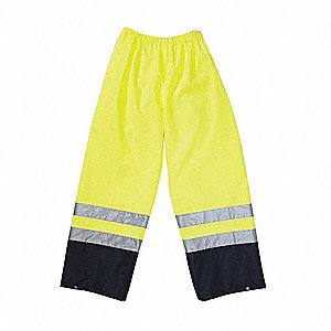 Hi-Viz Rainwear Pant, Yellow, Medium