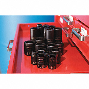 Impact Socket Set,3/4 In Dr,14 pc