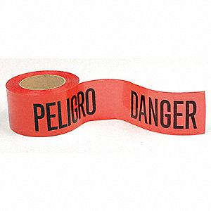 Barricade Tape,Red/Black,300 ft x 3 In