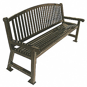 Outdoor Bench,48 in. L,36 in. H,Burgandy