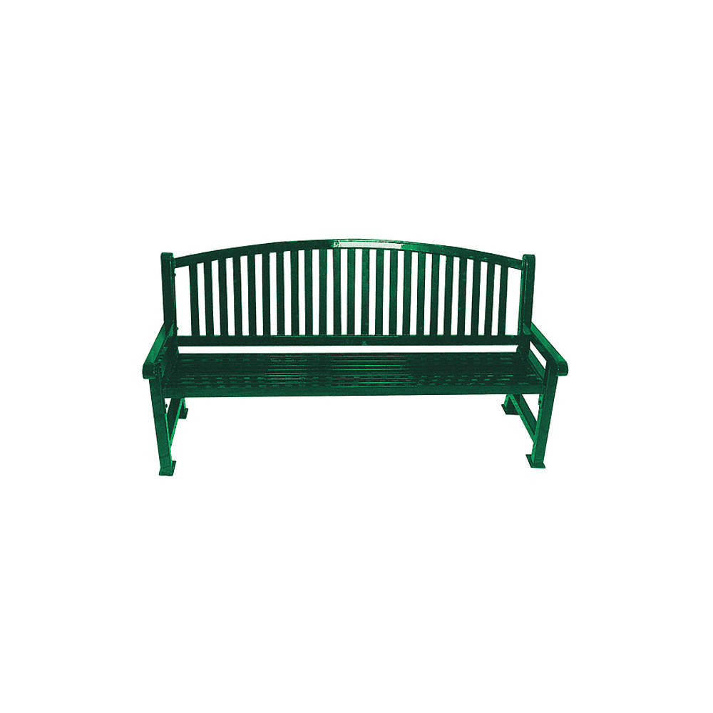 Enjoyable Thermoplastic Coated Metal Outdoor Bench Green Gmtry Best Dining Table And Chair Ideas Images Gmtryco