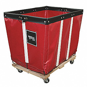 "Permanent Liner Basket Truck, 20.0 Bushel Capacity, 32"" Overall Width, 48"" Overall Length"