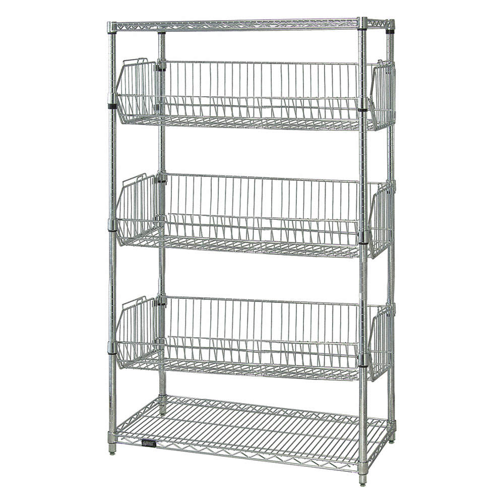 QUANTUM STORAGE SYSTEMS Starter Wire Shelving Unit, 48\