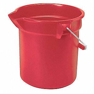 3-1/2 gal. Red HDPE Bucket, 1  EA