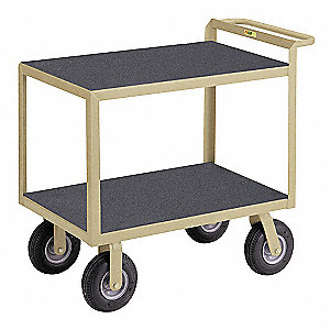 "37""H x 24""D Instrument Cart, 1200 lb. Load Capacity, Number of Shelves: 2"