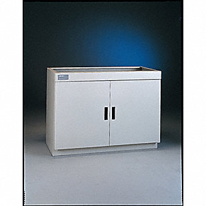 "Storage Cabinet, White, 36-3/4"" Overall Height, Assembled"