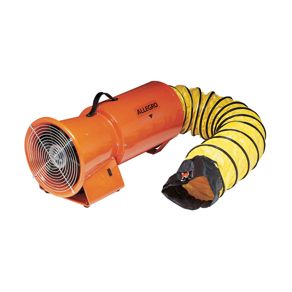 Axial Explosion Proof Confined Space Fan, 1/3 HP, 115VAC Voltage, 3250 rpm  Blower/Fan Speed