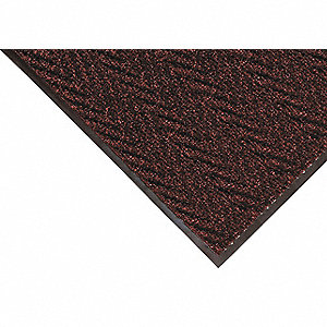 Burgundy Needle-Punched Yarn, Entrance Runner, 4 ft. Width, 10 ft. Length