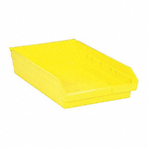 "Shelf Bin, Yellow, 4""H x 17-7/8""L x 11-1/8""W, 1EA"