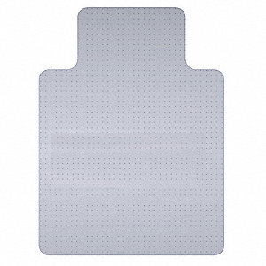 "Traditional Lip Chair Mat, Clear, For Carpet with Padding Up to 1/4"" Thick"