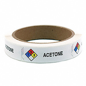 Item Haz Chem Label,Acetone,PK250