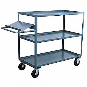 "87""L x 37""W x 48""H Steel Order Picking Stock Cart, 3000 lb. Load Capacity, Number of Shelves: 3"
