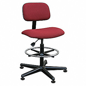 Swivel Stool with 300 lb. Weight Capacity, Burgundy