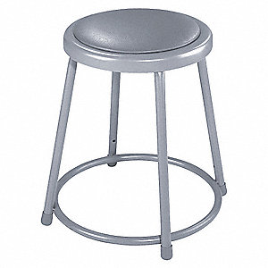 Round Stool and 300 lb. Weight Capacity, Gray