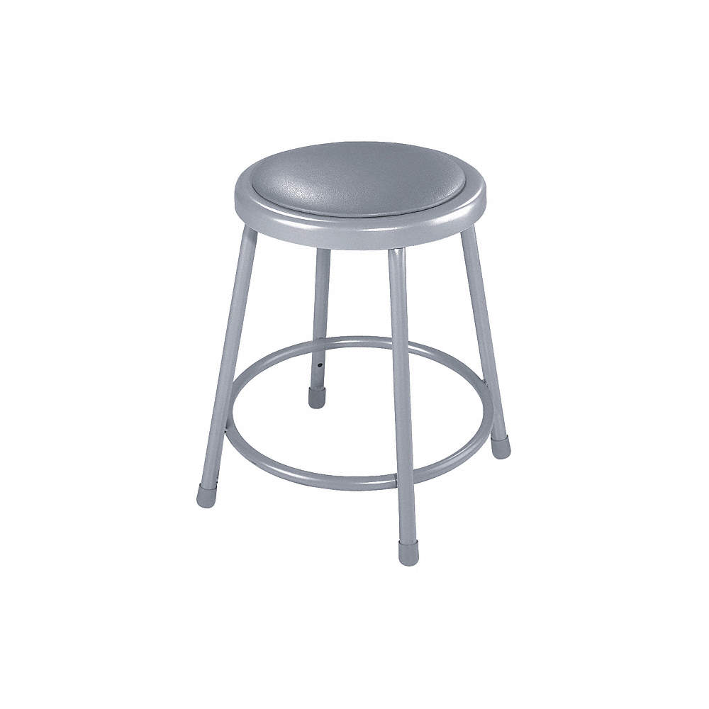 Fabulous Round Stool And 300 Lb Weight Capacity Gray Inzonedesignstudio Interior Chair Design Inzonedesignstudiocom