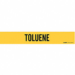 Pipe Marker, Toluene, Yel, 8 In or Greater