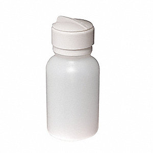 Wide Mouth Round Dispensing Bottle, Dispensing, Plastic, 236.6mL, Clear, 1 EA