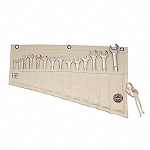 White Wrench Roll-Up Bag, Canvas