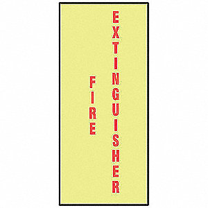 Fire Extinguisher Sign,10 x 3-1/2In,FEXT
