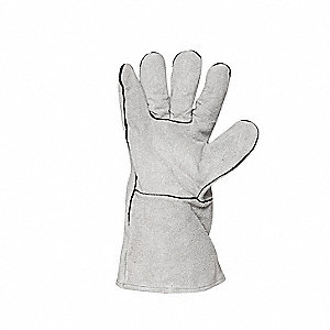 Welding Gloves,L,Gray,Fleece,PR