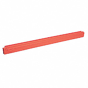 "24""W Straight Rubber Replacement Squeegee Blade, Red"