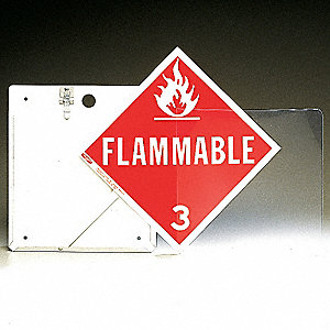 "13-3/4"" x 11-7/8"" Aluminum Placard Holder, White"