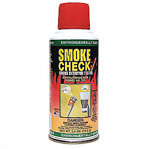 Smoke Detector Tester, 2.5 oz. Aerosol&#x3b; For Use With Residential or Commercial Detectors&#x3b; Provides F