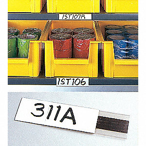 "6"" x 1/16"" x 3/4"" Label Holder, White&#x3b; PK12"