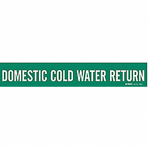 Pipe Marker, Domestic Cold Water Return