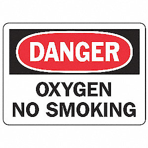"No Smoking, Danger, Aluminum, 7"" x 10"", With Mounting Holes, Not Retroreflective"