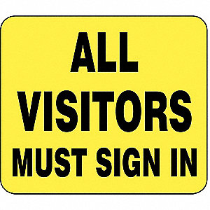 BARRIER POST SIGN ALL VISITORS 11