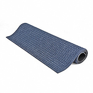 Blue Dual Fiber Carpet, Entrance Mat, 3 ft. Width, 5 ft. Length