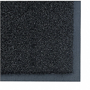 Black Nylon, Entrance Mat, 4 ft. Width, 6 ft. Length