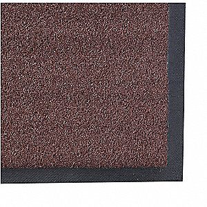 Brown Nylon, Entrance Mat, 3 ft. Width, 5 ft. Length