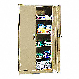 Storage Cabinet,36 x18 x72 In,Sand,Steel
