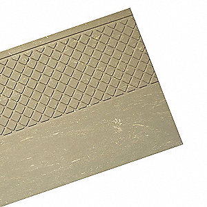 "Gray, Rubber Stair Tread Cover, Installation Method: Adhesive, Square Edge Type, 60"" Width"