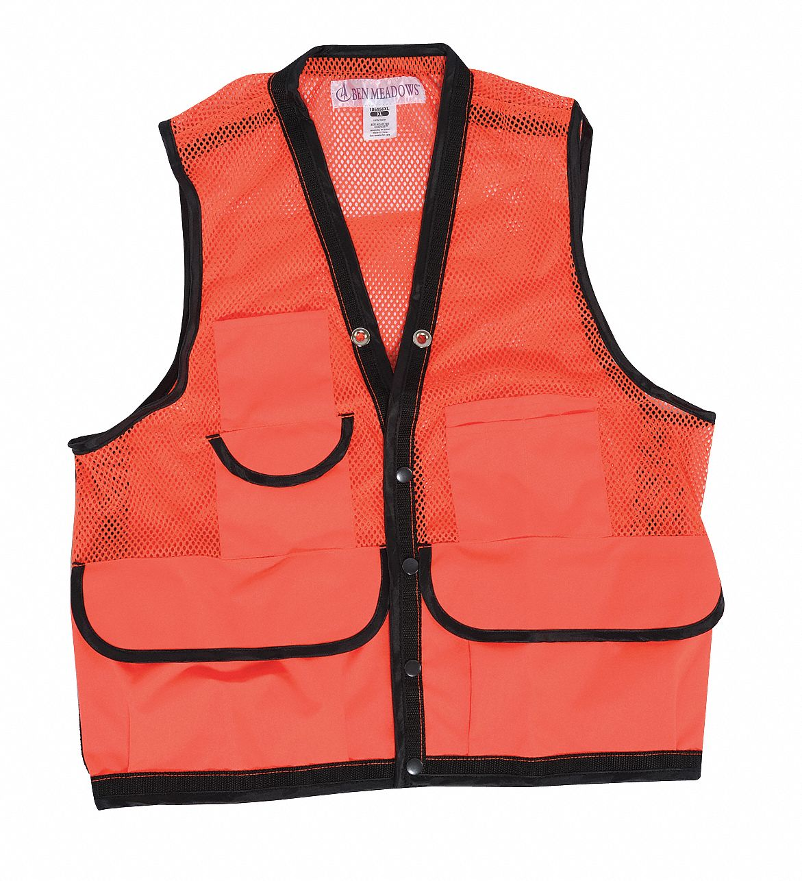 Orange Vest,  XL,  Cordura with Polypropylene Webbing,  Fits Chest Size 43 in to 45 in,  10 Pockets