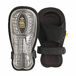 Nonmarring 2-Strap Knee Pads w/Shin Guards, Black