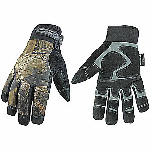 Cold Protection Gloves, Waterproof Membrane, 80g Thinsulate, 100% Poly Tricot Lining, Neoprene with