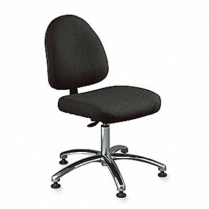 Ergonomic Task Chair with 300 lb. Weight Capacity, Black