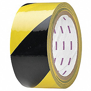 "Safety Warning Tape, Striped, Roll, 2"" x 54 ft., 1 EA"