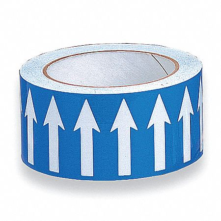 Banding Tape,  Background Color Blue,  Vinyl,  Pipe Marker Mounting Style Adhesive Pipe Marker